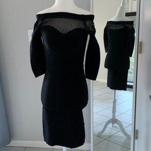 YAMAMAY Italian Designer Bodycon OffShoulder Dress